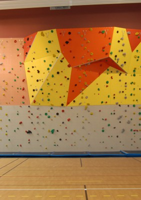 Le mur d'escalade